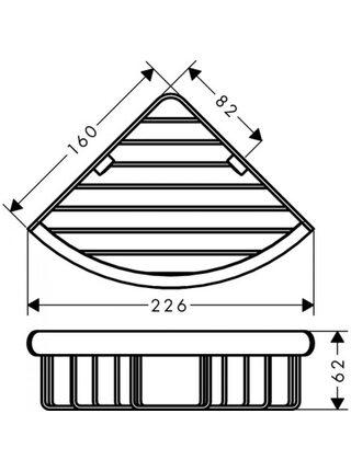 Угловая корзинка-мыльница Hansgrohe Logis Universal 41710000, хром