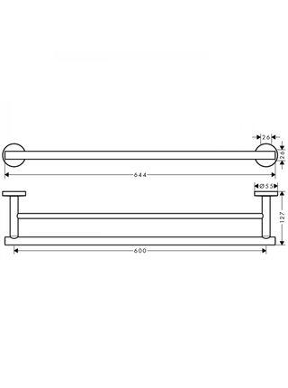 Двойной держатель для банных полотенец Hansgrohe Logis Universal 41712000