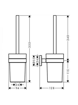 Туалетный ершик подвесной Hansgrohe Logis Universal 41722000