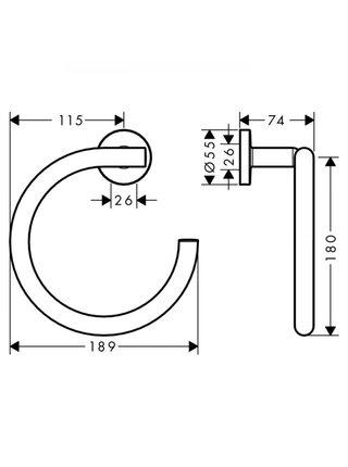 Полотенцедержатель в форме кольца Hansgrohe Logis Universal 41724000
