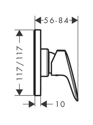 Смеситель для душа Hansgrohe Logis однорычажный для скрытого монтажа хром 71604000