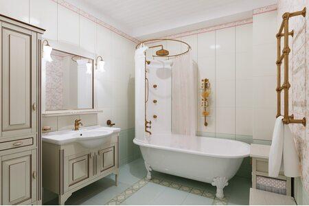 Выбор карниза для ванной в зависимости от дизайна