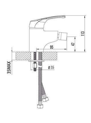 LM3108С Смеситель для биде OMEGA LEMARK