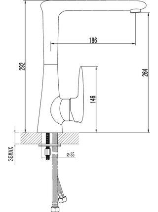 LM4405С Смеситель для кухни с поворотным изливом STATUS LEMARK
