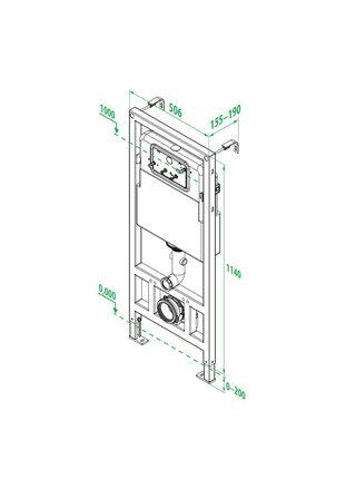 Инсталляция рамная для подвесного унитаза, Neofix, ID NEO0000I32