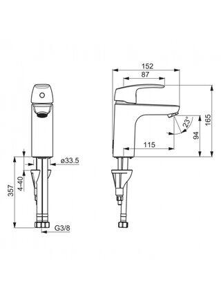 1011F Смеситель для умывальника SAFIRA XL ORAS