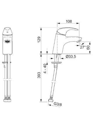 1411F Смеситель для умывальника POLARA ORAS