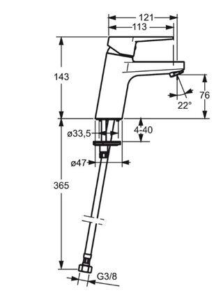 3810F Смеситель для умывальника TWISTA ORAS