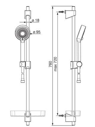 544 Душевой комплект APOLLO Shower ORAS
