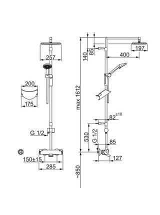 7193U Душевая система с термостатическим смесителем OPTIMA ORAS