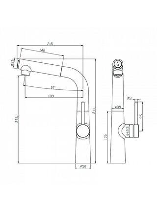 Смеситель для кухни с каналом для фильтрованной воды, Pure, IDDIS, PURSBFBi05