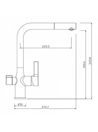 Смеситель для кухни с каналом для фильтрованной воды, Pure, IDDIS, PURSBFLi05