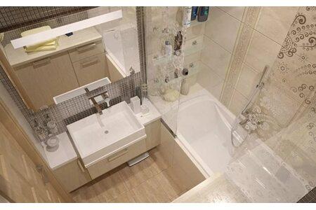 """Дизайн ванной комнаты в """"хрущевках"""""""