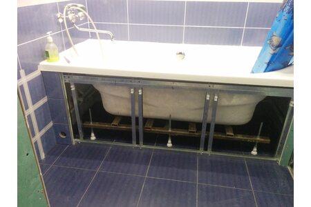 Установка ванны на каркас – делаем правильно