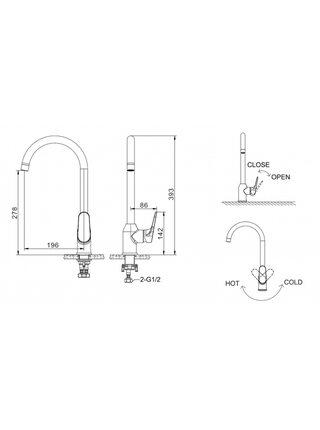 ELER Смеситель для кухни Bravat F7191238CP-RUS