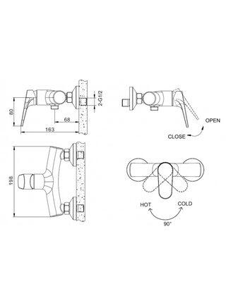 ELER Смеситель для душа Bravat F9191238CP-01-RUS