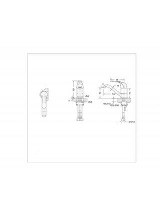 FIT Смеситель универсальный для кухни и умывальника Bravat F1233188CP-RUS