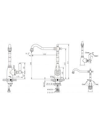 ART Смеситель для кухни Bravat F775109C-1