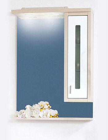 Шкаф-зеркало БАЛИ 75 R светлая/белый глянец