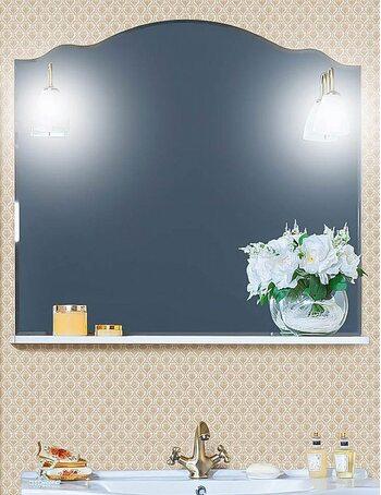 Зеркало АННА 100 белый глянец