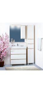 Шкаф-зеркало  ТОКИО 70 R светлая/белый глянец