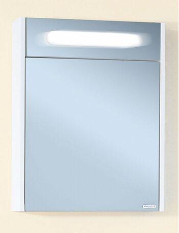 Шкаф-зеркало ПАЛЕРМО 55 белый