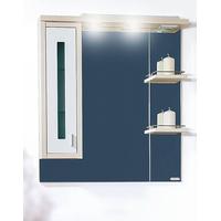Шкаф-зеркало БАЛИ 75 L светлая/белый глянец