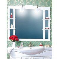 Зеркало АННА 120 белый глянец