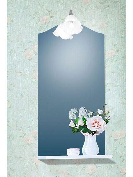 Зеркало ЛЮЧИЯ 45 белый глянец