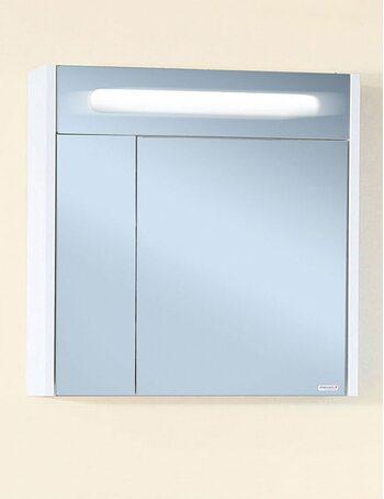 Шкаф-зеркало ПАЛЕРМО 74 белый