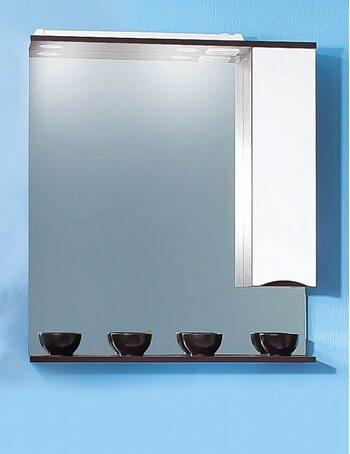 Шкаф-зеркало ТОКИО 80 R венге/белый глянец