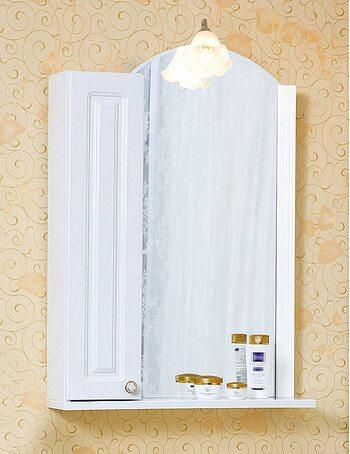 Шкаф-зеркало АННА 60 R белый глянец