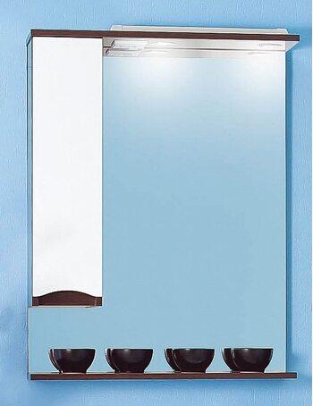 Шкаф-зеркало ТОКИО 80 L венге/белый глянец