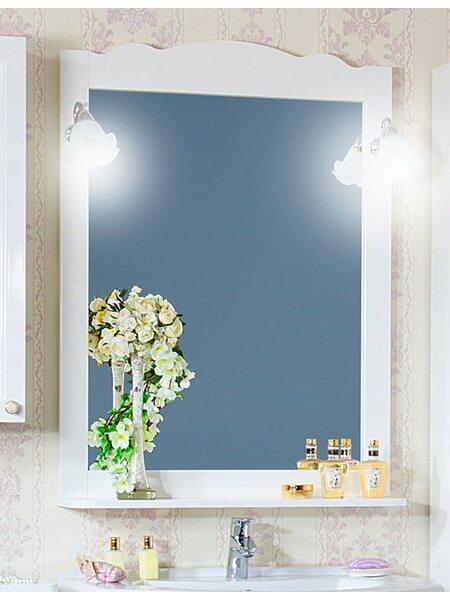 Зеркало АННА 75 белый глянец