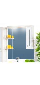Шкаф-зеркало БАЛИ 90 R светлая/белый глянец