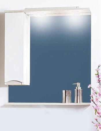 Шкаф-зеркало ТОКИО 80 L светлая/белый глянец