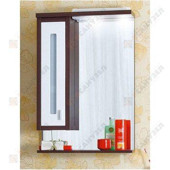 Шкаф-зеркало БАЛИ 62 L венге/белый глянец