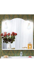 Зеркало АННА 90 белый глянец