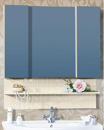 Шкаф-зеркало КАРИБЫ 100 светлая лиственница