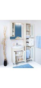 Шкаф-зеркало БАЛИ 62 L светлая/белый глянец