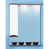 Шкаф-зеркало ТОКИО 70 L венге/белый глянец