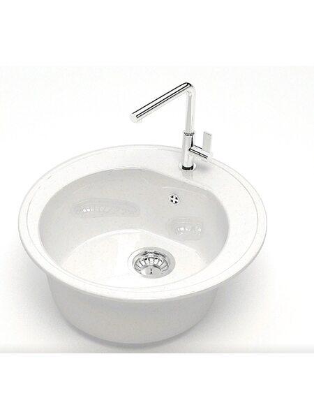 Мойка круглая (513х513х191) Черая Z3Q1 (белый лёд)