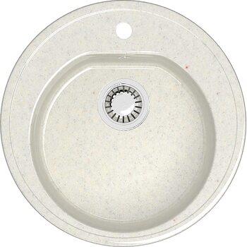 Мойка круглая (513х513х191) Черая Z3Q7 (хлопок)