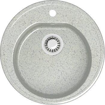 Мойка круглая (513х513х191) Черая Z3Q10 (светло серая)