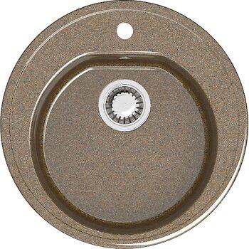 Мойка круглая (513х513х191) Черая Z3Q9 (терракот)