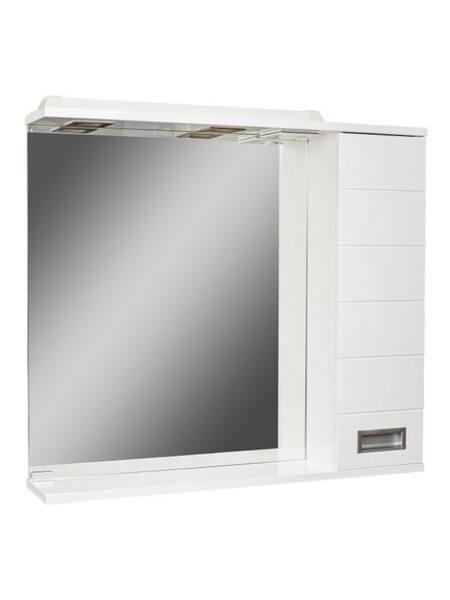 Шкаф-зеркало Cube 75 Эл. правый Домино