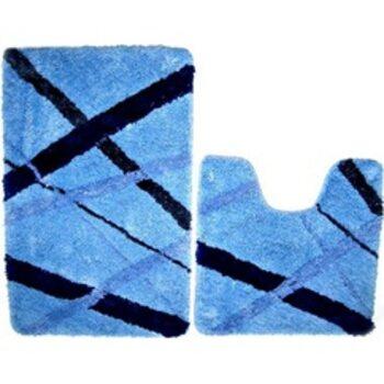 Набор ковриков для ванной комнаты, 50х80+50х50 см, микрофибра, blue rain, MID160MS