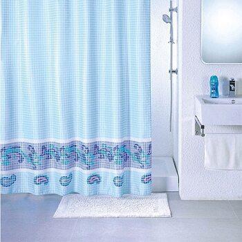 Штора для ванной комнаты, 180*200 см, полиэстер, blue fresco, SCMI011P