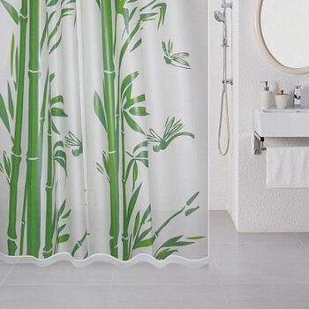Штора для ванной комнаты, 180*180 см, PEVA, Bamboo (green), Milardo, 510V180M11