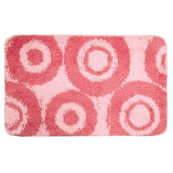 Коврик для ванной комнаты, 50х80см, акрил, Pink Circles, 271A580i12